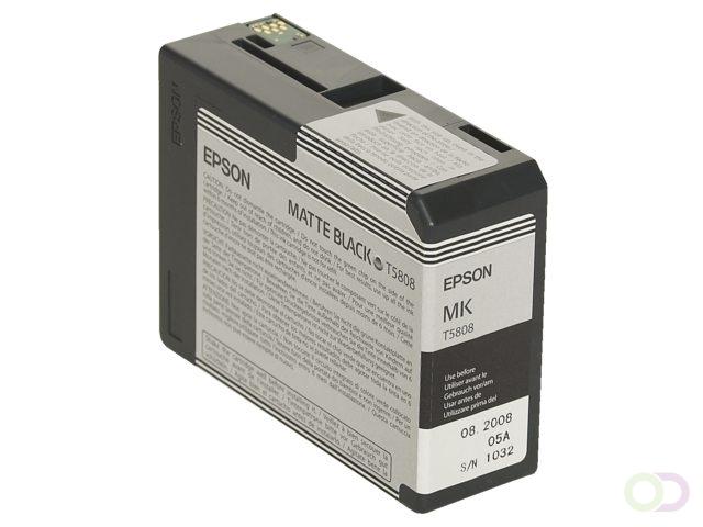 Image of Epson inktpatroon mat zwart T 580 80 ml T 5808 (10343858848)